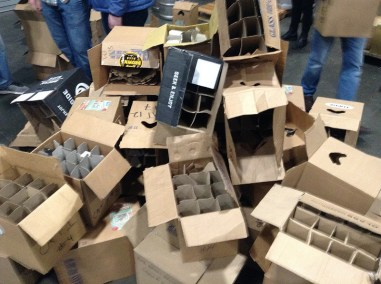 empty cardboard boxes