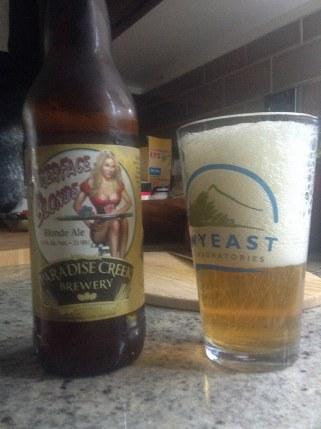 Paradise Creek Pokerface Blonde ale