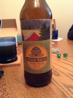Big Barn brewing Peone Wheat ale