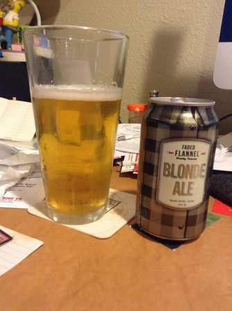 Faded Flannel blonde ale