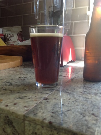 Homebrew amber ale