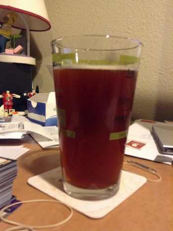 Less Awesome Amber ale