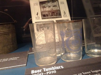 beer tumblers from the 1900s