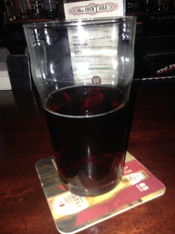 Amber ale at Fitzgeralds