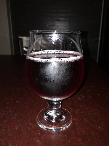 Locust smoked blueberry cider