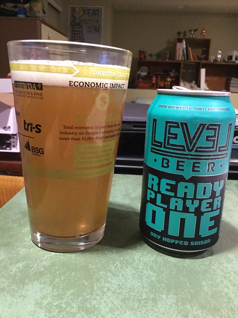 Level beer Ready Player one dry hopped saison